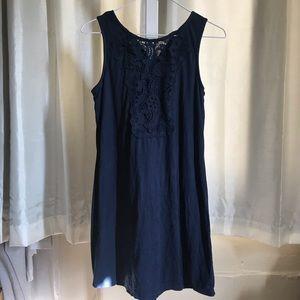 Xhilaration lace faux suede dress